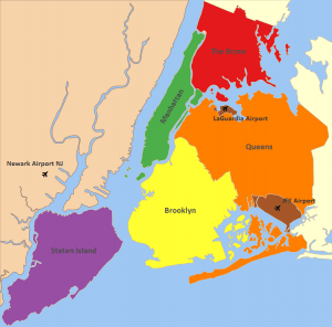 the 5 boroughs of new york city
