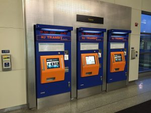 automated ticket machines at the newark liberty international airport train station new jersey