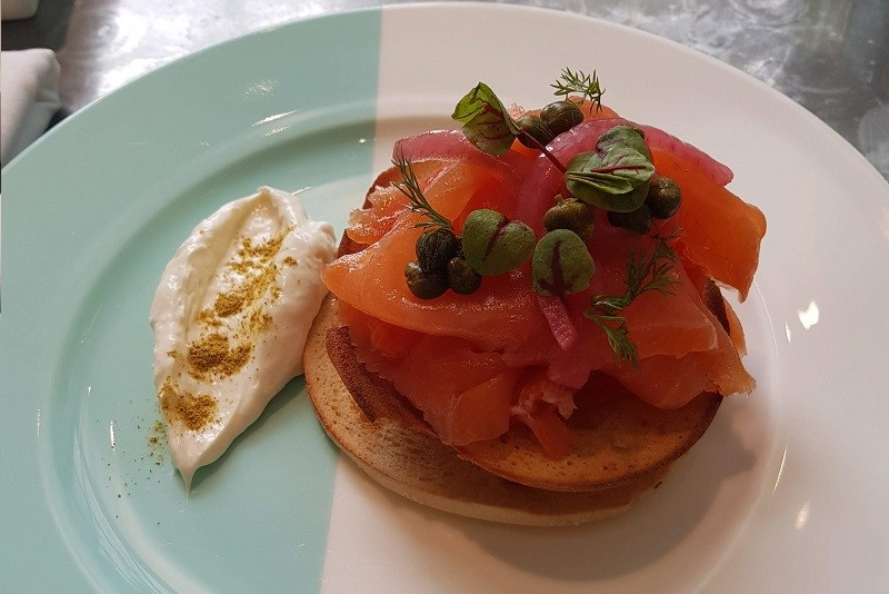 Bagels and Lox Blue Box Cafe Tiffany's nyc