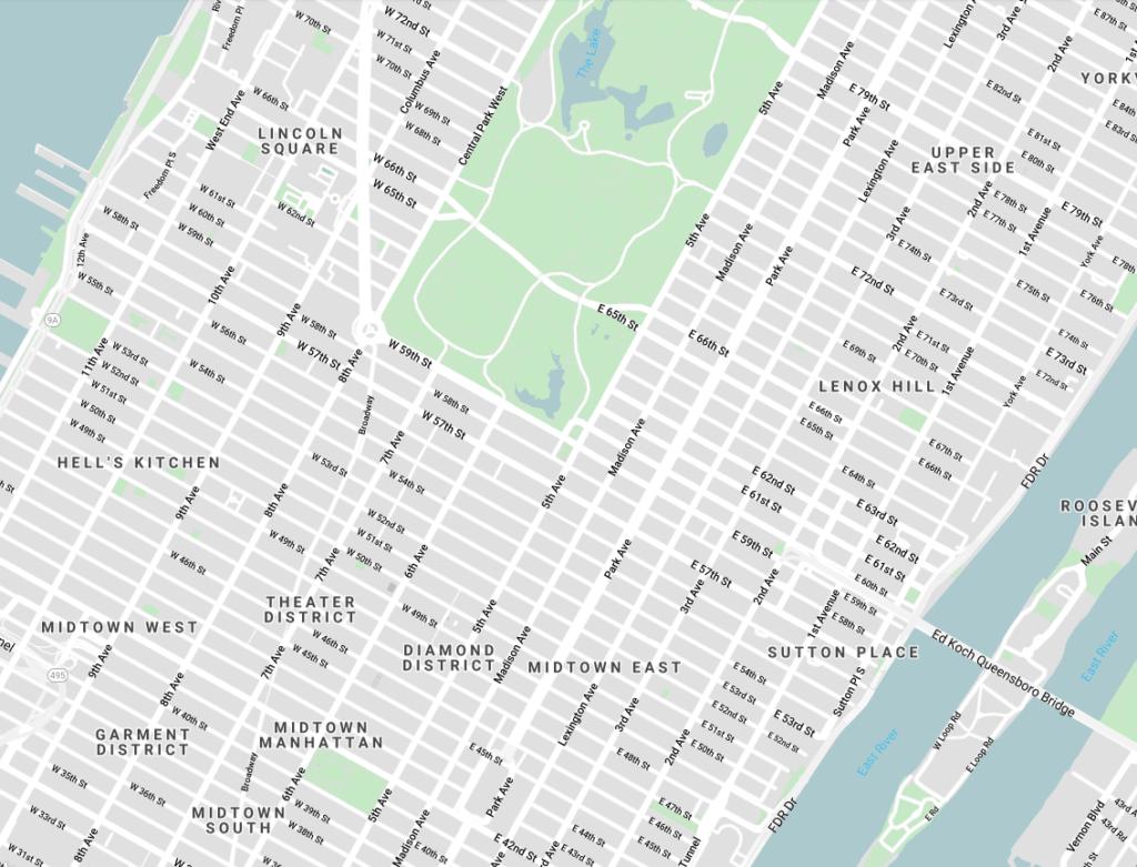 New York Grid System