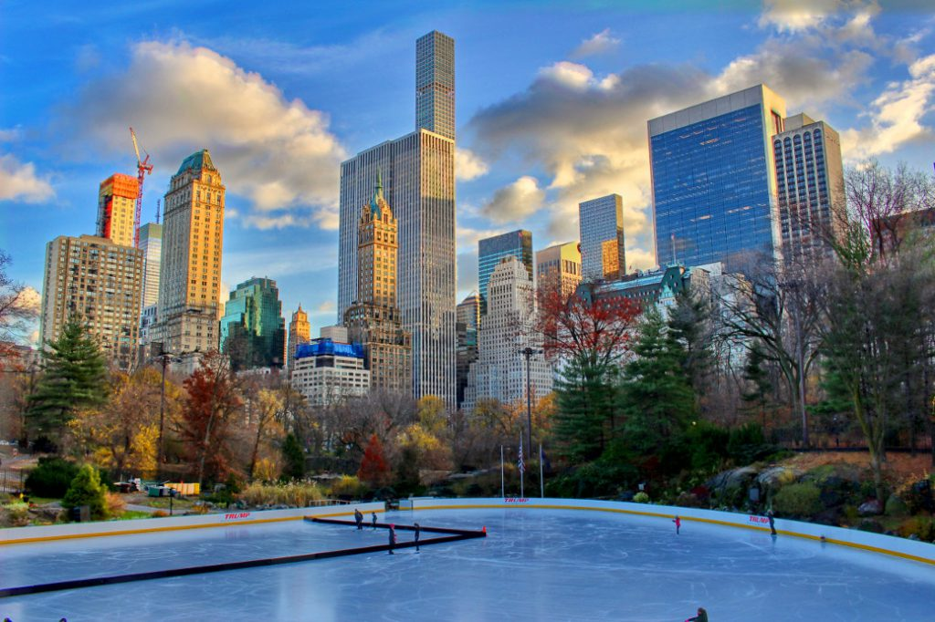 ice skateing in the park
