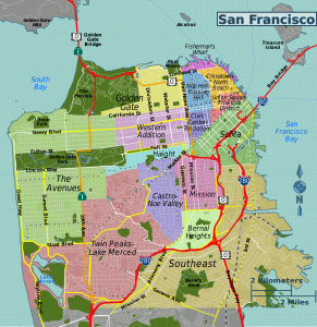 San Francisco districts map