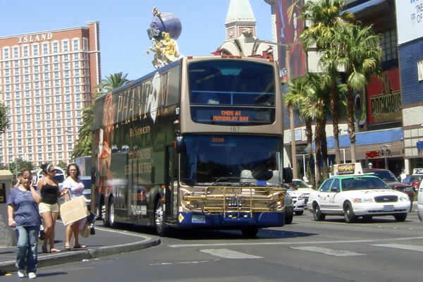 The Deuce double deck bus Las Vegas