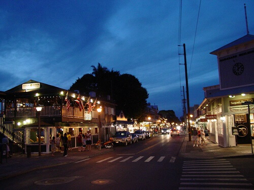 Front Street Lahaina at Sunset