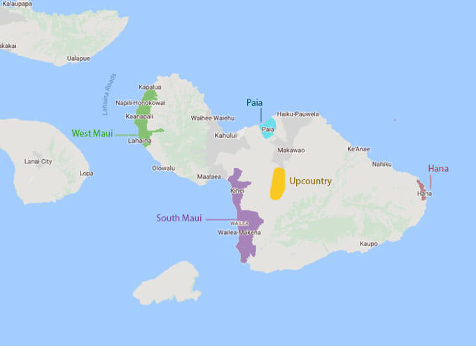 Mapa de Maui