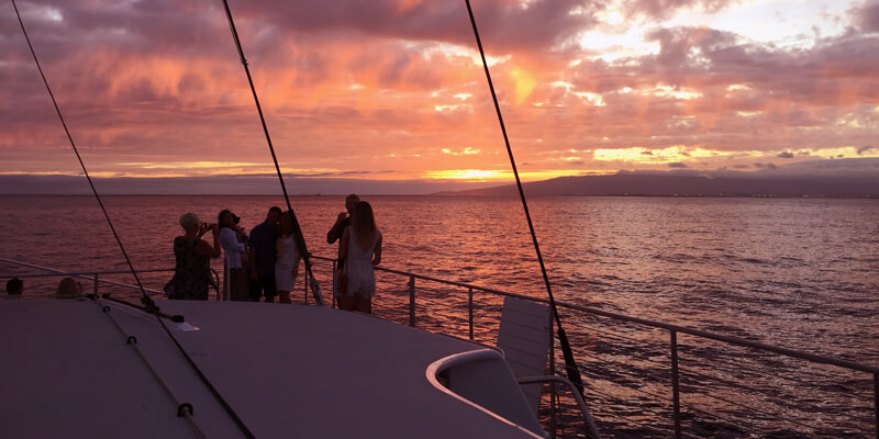 Sunset Dinner Sail Makani Catamaran