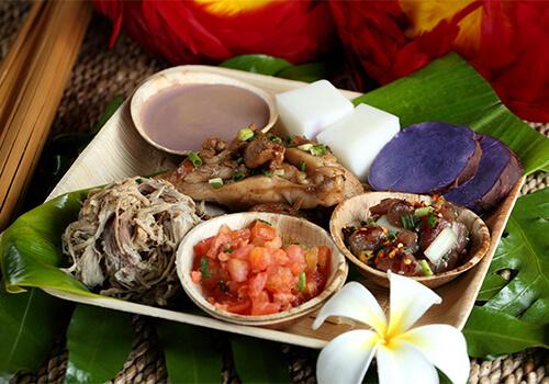 Traditional Luau Food