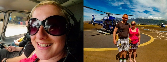 Maui helicopter tour selfies