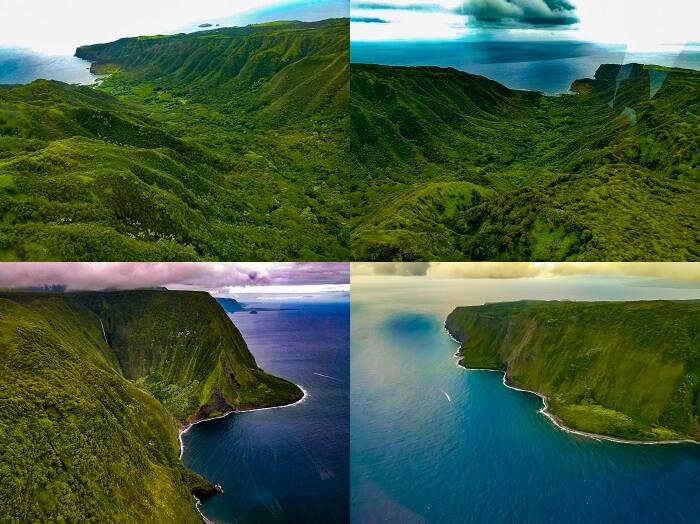 Sea cliffs and Valleys Molokai North shore