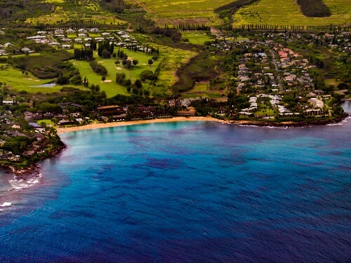 Napili Bay from the Air