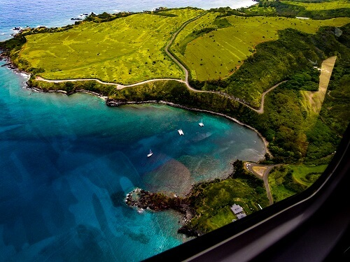 Honolua bay from the air