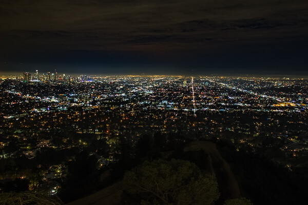 Los Angeles from Griffith observatory at night