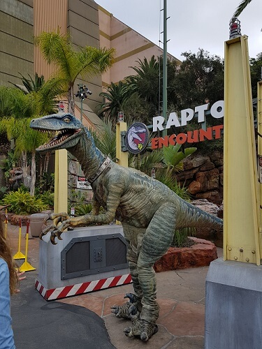 Raptor Experience Universal Hollywood