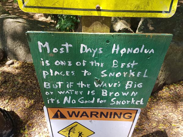 Honolua Bay Sign