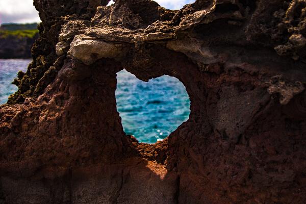Heart Shaped Rock Nakalele