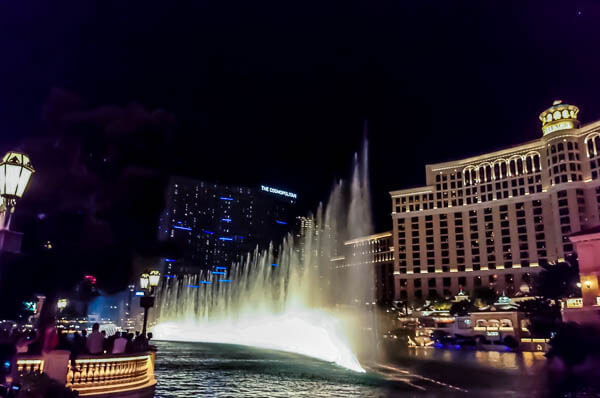 Bellagio Fountains sidewalk
