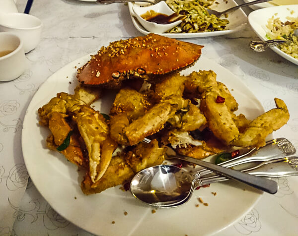 San Francisco Chinatown Salt pepper crab