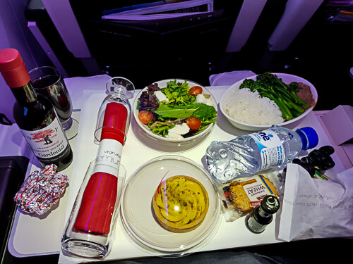 Virgin Premium Economy-Meal
