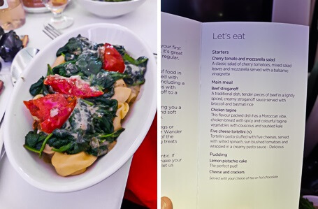 Virgin Premium Economy-food