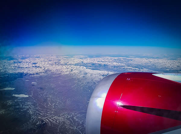 View out of the Large Dreamliner Windows