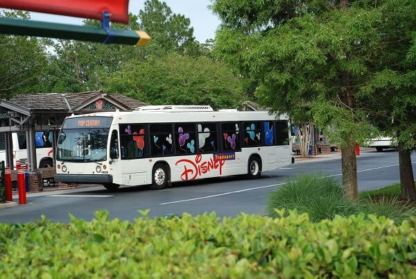 Disney bus in Walt Disney World Florida