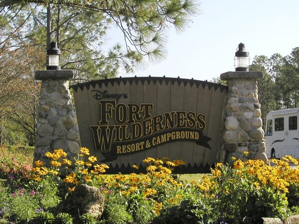 Disneys Fort Wilderness Resort and Campground sign