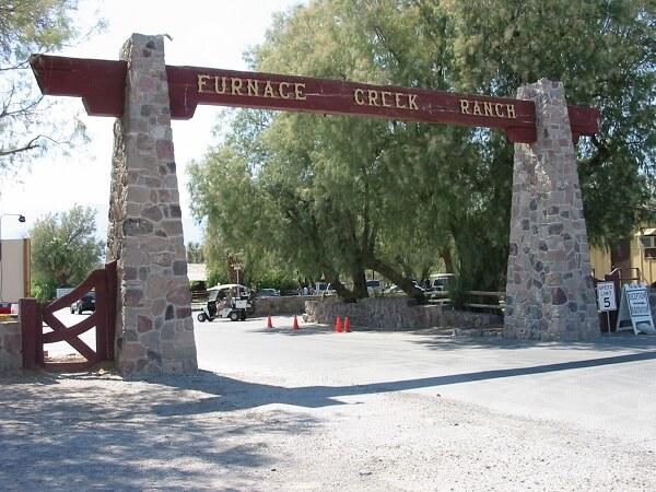 Furnace Creek Ranch Entrance