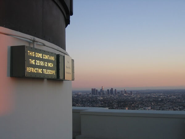 Griffith Observatory telescope dome