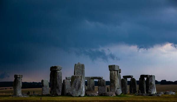 Stonehenge rain on the way