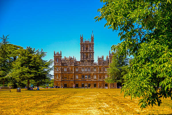 Highclere from the Folly