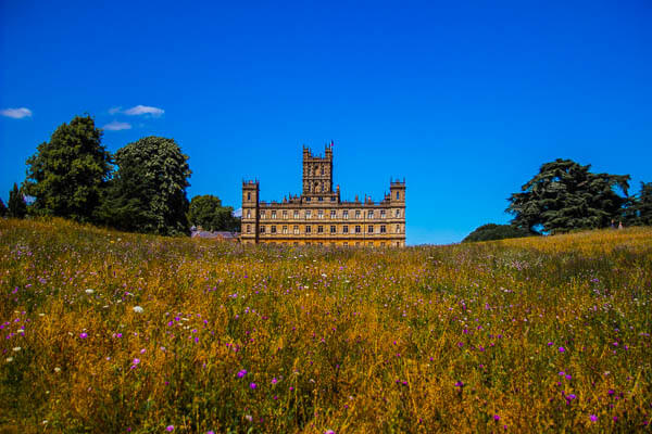 Highclere from the meadow
