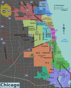 Chicago districts map