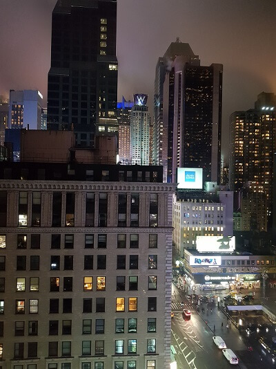 View from Manhattan at Times Square