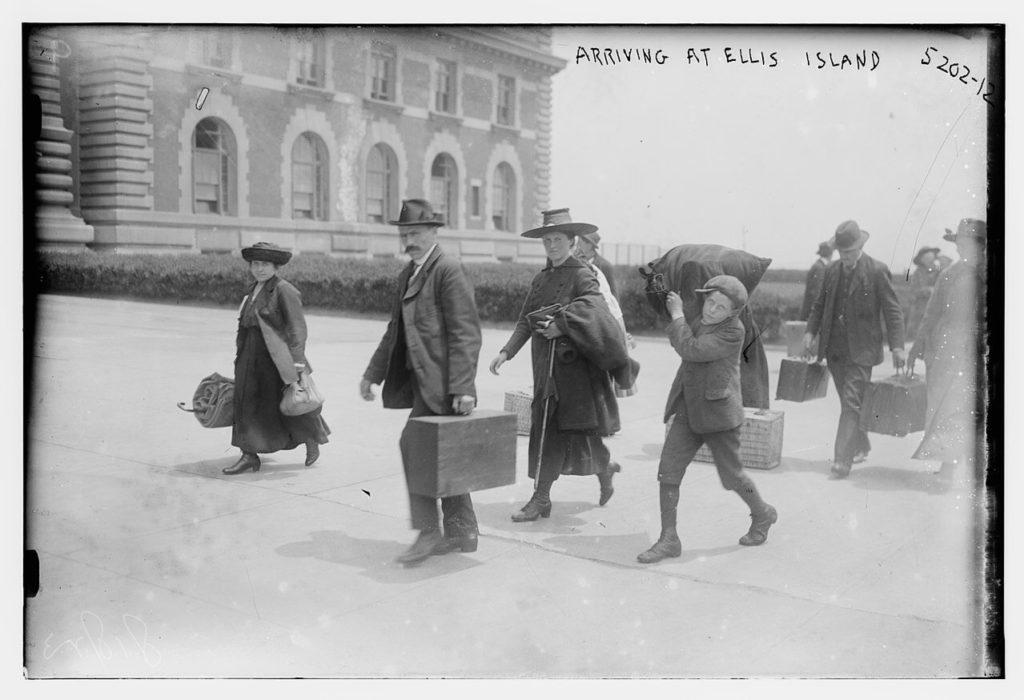 Arriving at Ellis Island