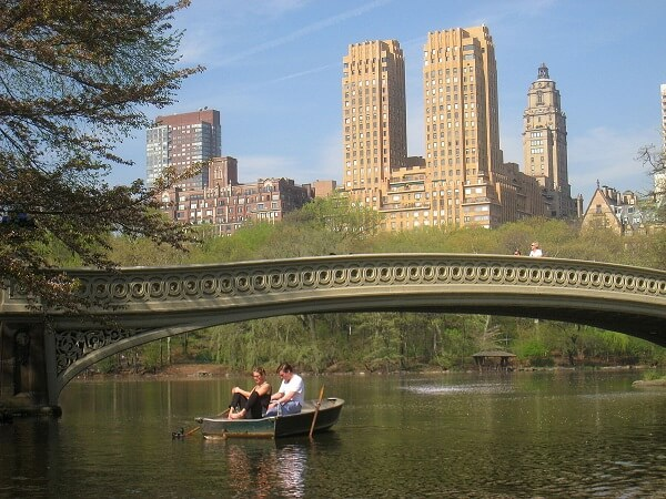 rowing Lake in Central Park