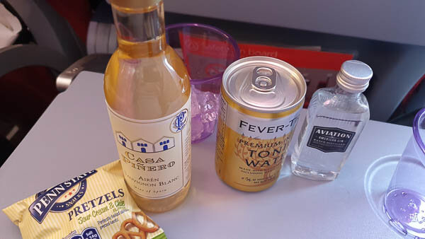 Virgin Atlantic drinks