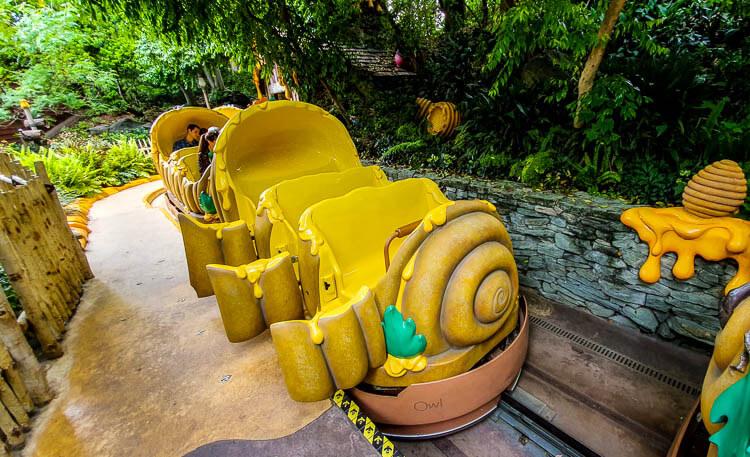 Winnie the Pooh ride cars