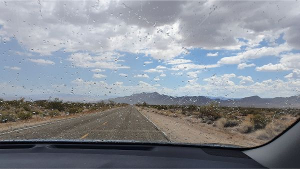 Rain in the desert