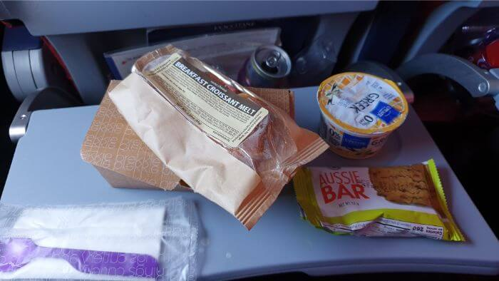 Virgin Atlantic Economy Breakfast