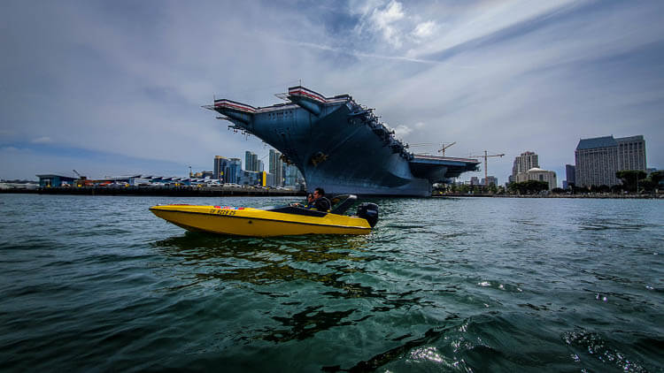 San Diego Go Pass Hands-On Review Day 3 - Speed Boat Tour - USS Midway Museum