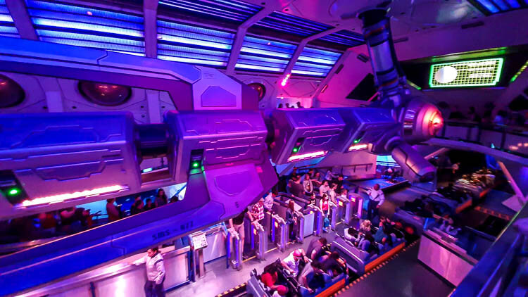 Space Mountain queue