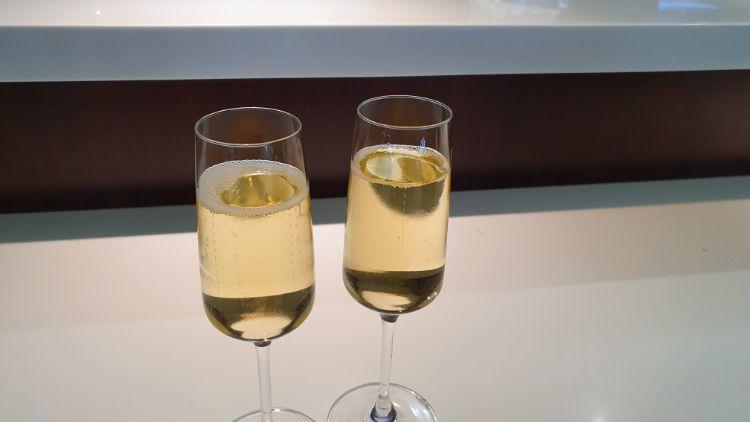 Etihad Business Class Lounge Drinks