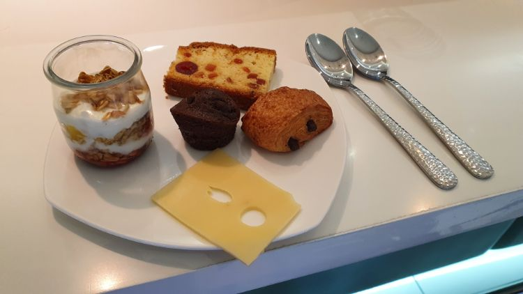 Etihad Business Class Lounge Food