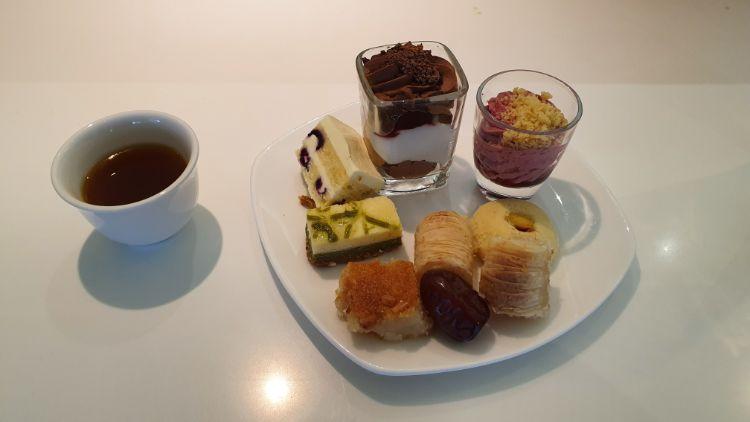 Etihad Business Class Lounge Local Food