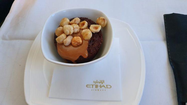 Etihad Business Class Dessert