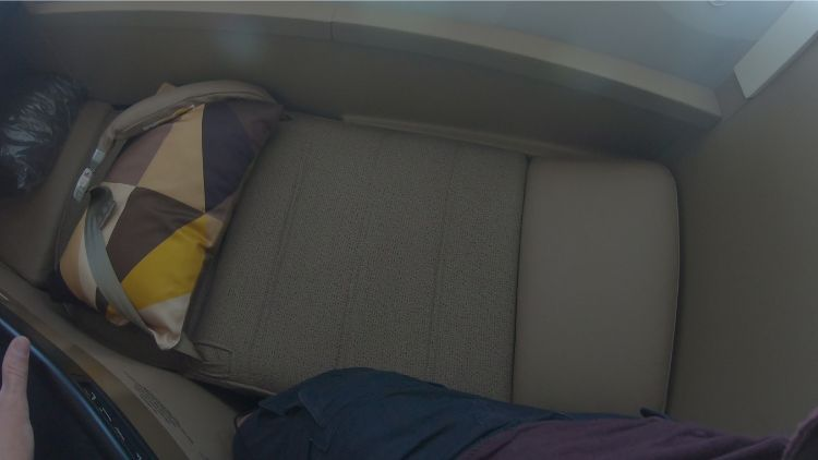 Etihad Business Class lay flat seat