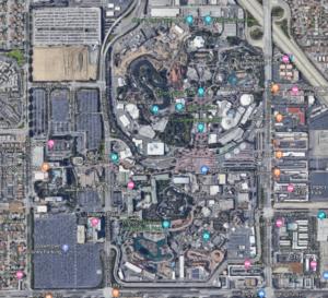 Disneyland California Layout