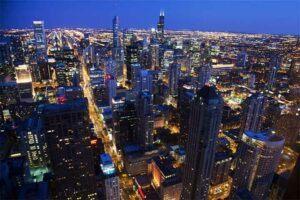 360 chicago gallery night
