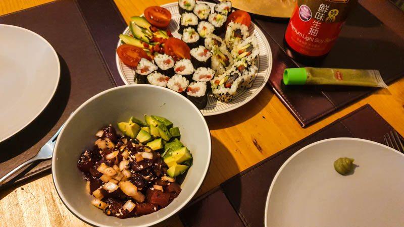 Ahi Poke and Sushi