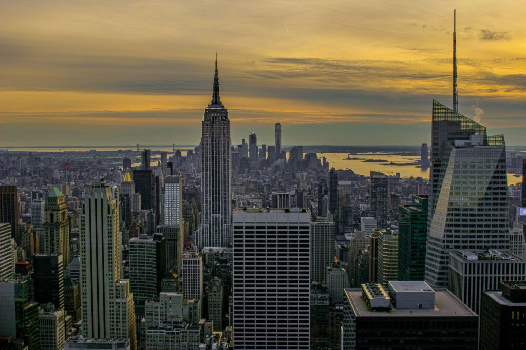 Top of the rock sunset